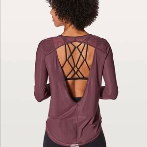 NWT Lululemon mix and mesh LS